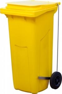 Мусорный контейнер (120л) желтый