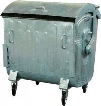 Мусорный контейнер на колёсах (1100 л) оцинкованный