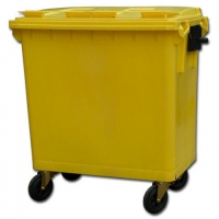 Мусорный контейнер на колёсах (770 л) желтый
