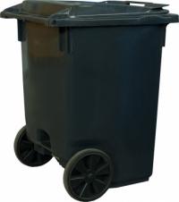 Мусорный контейнер на 3-х колёсах (370 л) серый