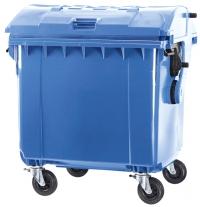 Мусорный контейнер на колёсах (660 л) синий