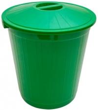 Бак с крышкой (80 л) зеленый