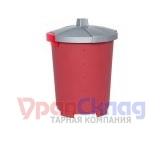 Бак с крышкой (45 л) бордовый