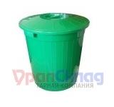 Бак с крышкой (50 л) зеленый