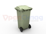 Передвижной мусорный контейнер 120 л. с крышкой