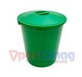 Бак с крышкой (60 л) зеленый